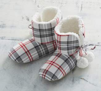 Pottery Barn Holland Plaid Booties