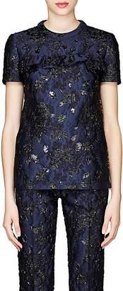 Prada Women's Floral Cloqué Top - Navy