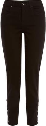 Karen Millen Buttoned Hem Skinny Jeans