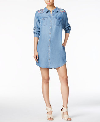 Velvet Heart Magda Cotton Embroidered Shirtdress $98 thestylecure.com