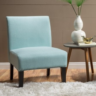 Noble House Cassie Light Blue Fabric Accent Chair