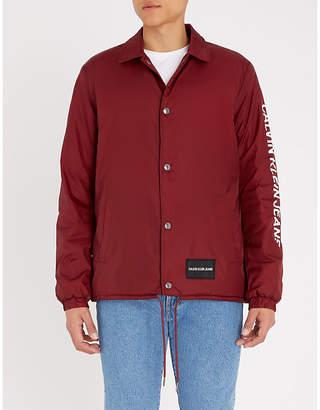 Calvin Klein Jeans Institution logo-print shell jacket