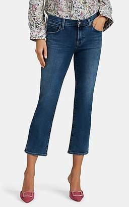 J Brand Women's Selena Distressed Mid-Rise Boot-Cut Crop Jeans - Blue