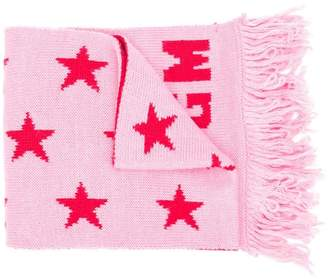 MSGM Kids star pattern knitted scarf
