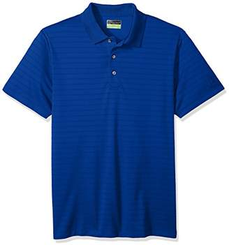PGA TOUR Men's Short Sleeve Double Lined Ottoman Solid Polo