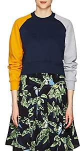 Cédric Charlier Women's Colorblocked Cotton Fleece Sweatshirt - Navy