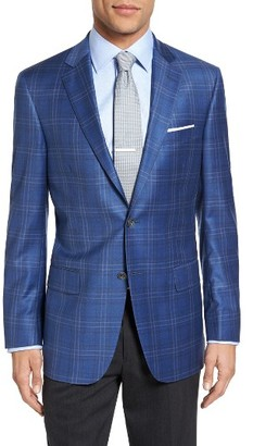 Men's Hart Schaffner Marx Classic Fit Plaid Wool Sport Coat $595 thestylecure.com