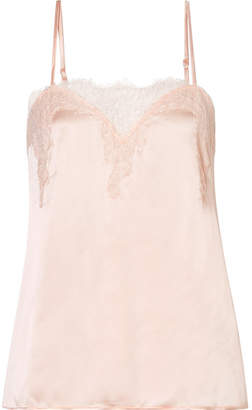 CAMI NYC Sweetheart Lace-trimmed Silk-charmeuse Camisole - Pastel pink