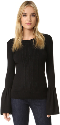 BCBGMAXAZRIA Bell Sleeve Sweater $228 thestylecure.com