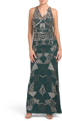All Over Beaded Gown