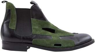 Comme des Garcons Green Suede Boots