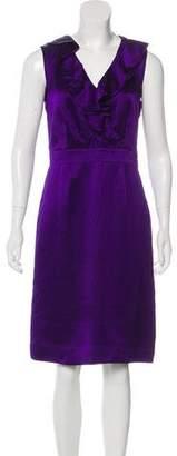 Tory Burch Textured Sleeveless Midi Dress