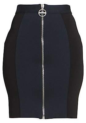Givenchy Women's Bicolor Punto Milano Mini Skirt