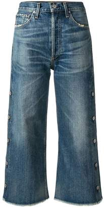 Citizens of Humanity faded buttoned cropped jeans
