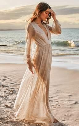 Showpo Truthful Lies Dress in gold glitter - 6 (XS) The Influencer