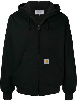 Carhartt Heritage coated zip-up hoodie