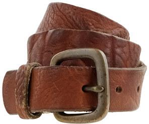Distressed denim belt