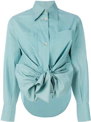 Jean Paul Gaultier Pre-Owned high low hem bow shirt