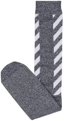 Off-White Off White Diagonal Cotton Socks