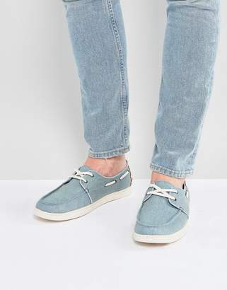 Toms Culver Boat Shoes In Blue