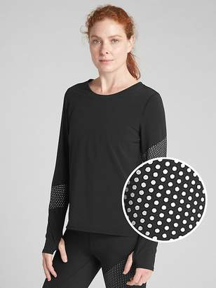 Gap GapFit Long Sleeve Reflective Print Top