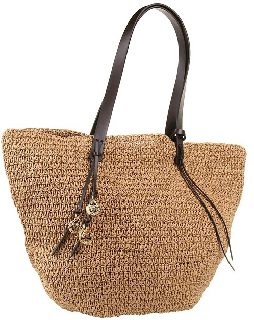 Lauren Ralph Lauren Gardiner Tote (Natural/Chestnut) - Bags and Luggage