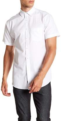Visive Short Sleeve Solid Modern Fit Oxford Shirt
