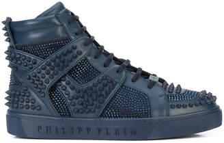 Philipp Plein Don't Wake Me Up hi-top sneakers
