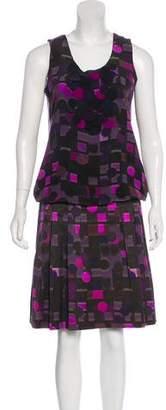Akris Punto Printed Skirt Set