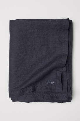 H&M Washed Linen Tablecloth - Gray
