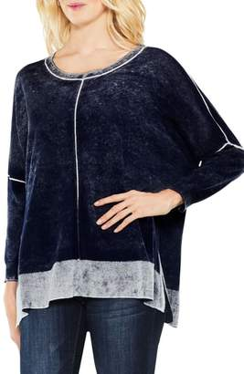 Vince Camuto Inside Out Printed Sweater
