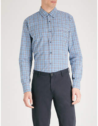 BOSS ORANGE Checked regular-fit cotton shirt