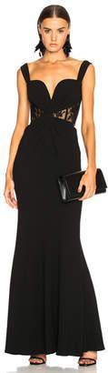 Alexander McQueen Sleeveless Bustier Gown