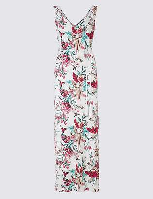 Marks and Spencer Floral Print Ruched Front Maxi Dress