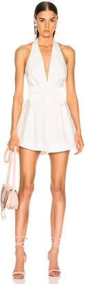 Zimmermann Corsage Tie Playsuit in Ivory | FWRD