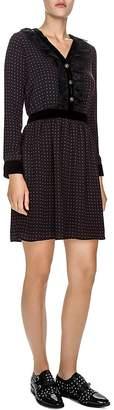 The Kooples Embellished Polka-Dot Dress