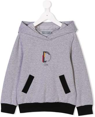 Christian Dior D is for printed hoodie