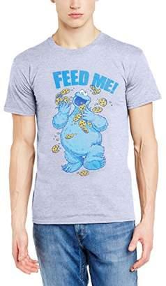 Sesame Street Men's 16.Cookie Feed Me Crew Neck Short Sleeve T-Shirt