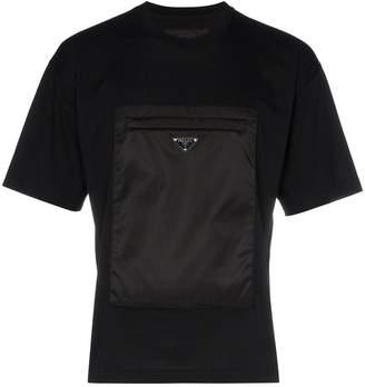 Prada front pocket cotton T-shirt