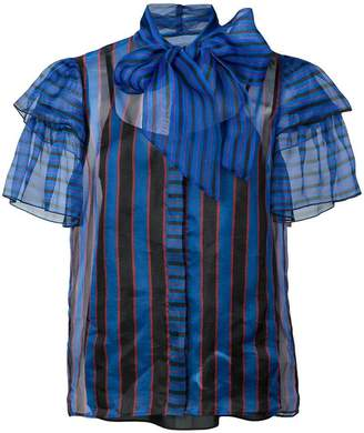 Alice + Olivia Alice+Olivia striped ruffle blouse