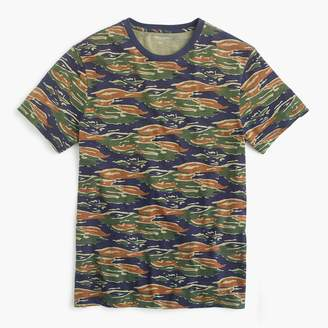 J.Crew Broken-in cotton jersey T-shirt in tiger stripe camo