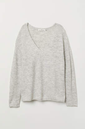 H&M V-neck Sweater - Gray