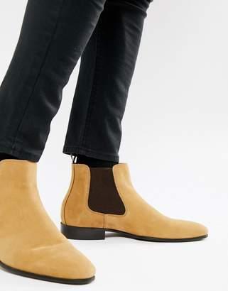 Aldo Chenadien chelsea boots in beige leather