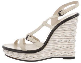 Bottega VenetaBottega Veneta Multistrap Wedge Sandals
