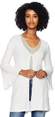 Three Dots Women's QQ7423 Brushed Sweater Cardigan