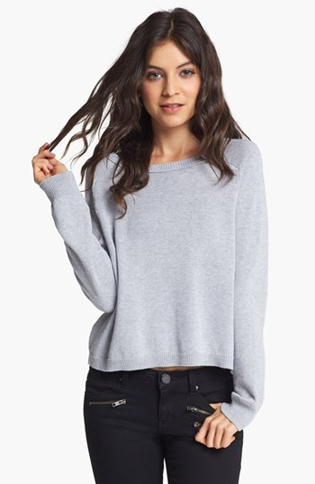 Rubbish Zip Back Crop Pullover (Juniors)