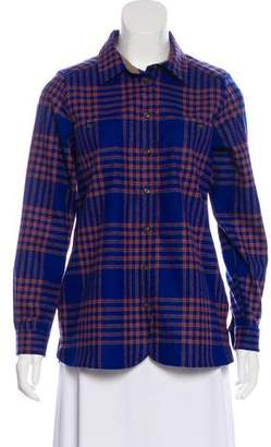 Pendleton Plaid Virgin Wool Top