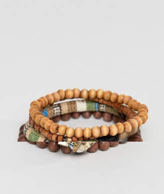 ICON BRAND Brown Beaded Bracelet In 3 Pack