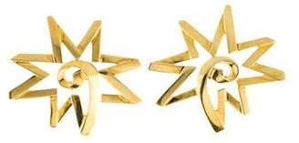 Tiffany & Co. 18K Starburst Earclips