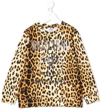 Moschino Kids leopard print sweatshirt